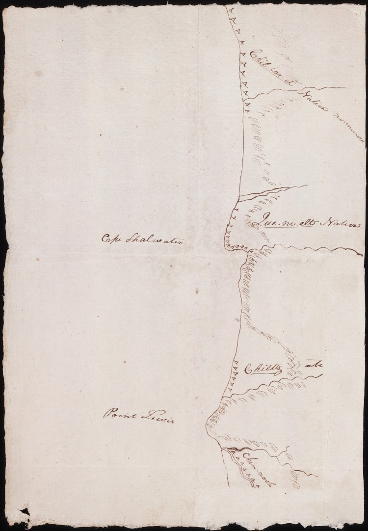 Portion of the north Oregon coast, Clark 1805-1806. Beineke Digital Collections.