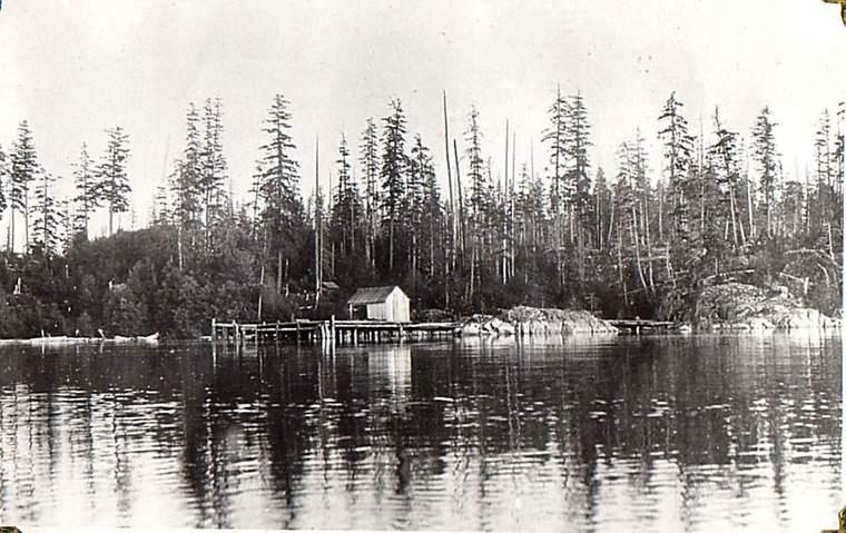 Whaletown docks, 1907. From Whaletown Historical Society
