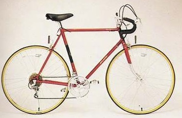 Raleigh, very much like my bike in the 1980s