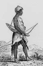 Original- Kalapuyan Man, South of Eugene area, Wilkes expedition, 1841