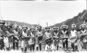 Tolowa and Yurok dancers circa 1920s