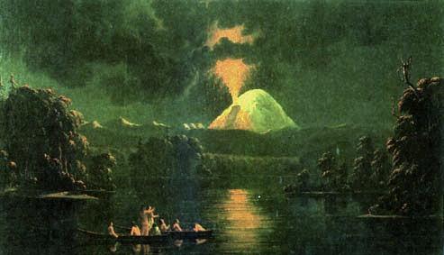 mount_st_helens_erupting_at_night_by_paul_kane