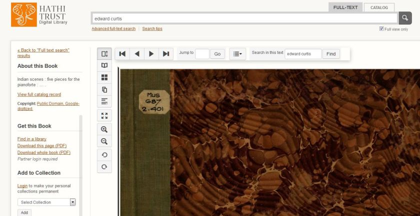 Hathi Trust Digital Library search interface