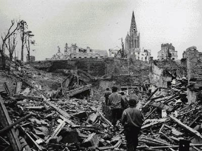 Berlin devastation after WWII