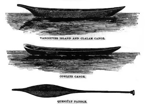 James Swan, two canoes and a paddle
