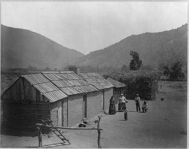 Indian Houses on Tejon reservation