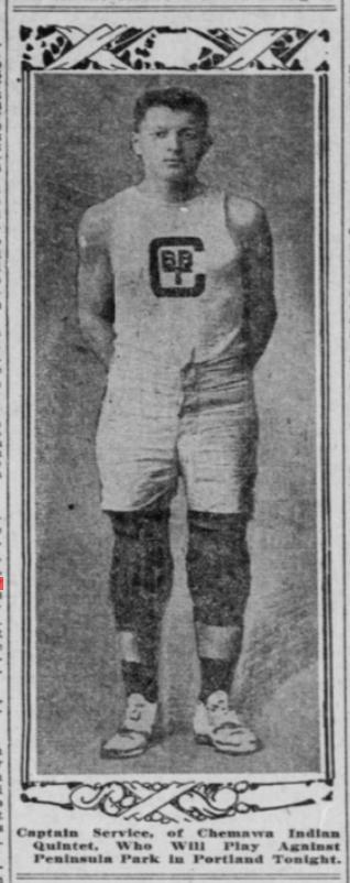 Captain Robert Service (Clatsop)- Basketball and Baseball at Chemawa Indian School