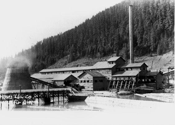 Westfir Saw Mill, perhaps simialr to Bucks Saw Mill, Bucks eventually became the Pittock Mill