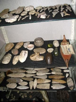 Contemporary image of a relic display from Pintrest