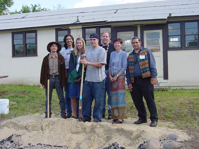 SWORP II Group in front of Original UO Longhouse 2001