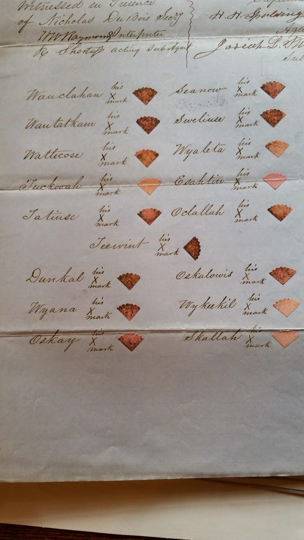 1851 Treaty Signature Page, NARA