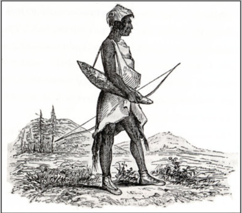 Costume of a Callapuyan, Agate 1841