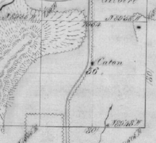 Caton DLC north of Alpine, OR, within GLO map 14s 6 w