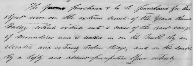 Portion of Molalla Treaty which mentions removal to the Grand Ronde Valley at the Base of the Coast Range, December 1855, NARA