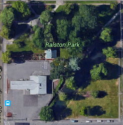Block of Lebanon with Ralston park, Google Maps 2016