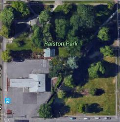 Block of Lebanon with Ralston park, Google Maps 2016
