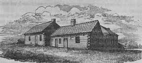 Willamette Mission, Methodist Homestead and Indian Mission School, built with Indian labor, Indian students labored on the farm 1836-1840s