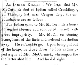 Oregonian, 12/17/1853
