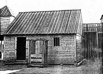 Example of how the Wallace House may have appeared, this example is the fur trading Rocky Mountain House in Canada