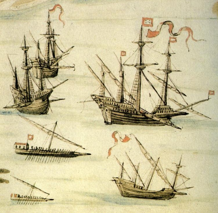 Spanish rigged ships and Galleon