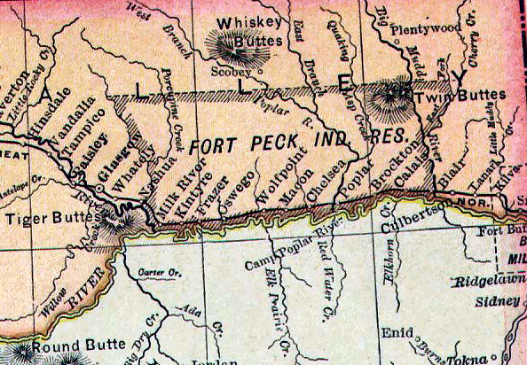 period map of the reservation