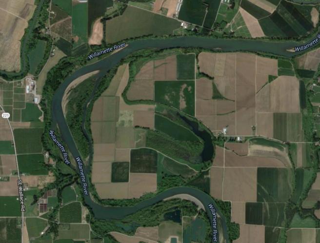 Bend of Willamette eats of Dayton, Google Maps