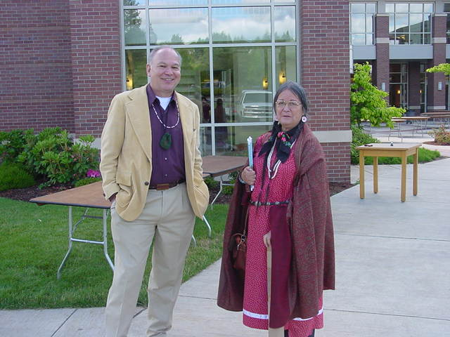 George Wasson and JoAllyn Archambault, Background is Knight Law, 201 Potlatch