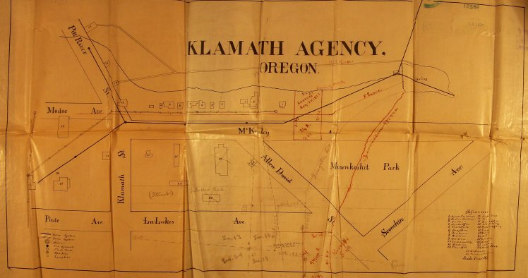 Klamath Plat map, collected in 2006