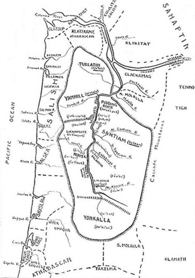 from book Melville Jacobs _Kalapuya Texts_, 1945