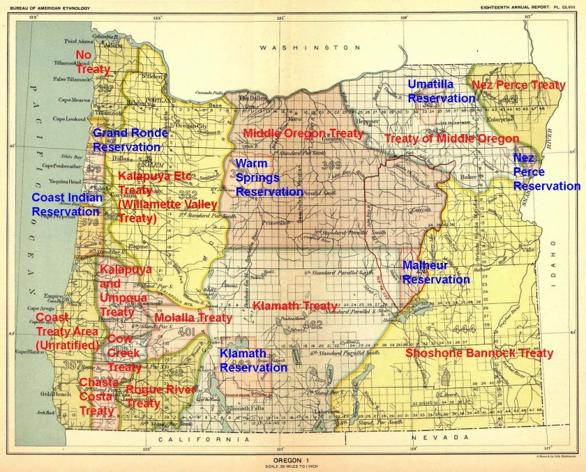 1870s Treaty and Reservation federal area map