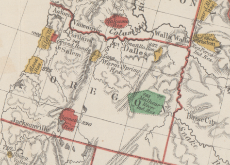 1874 Federal reservation map