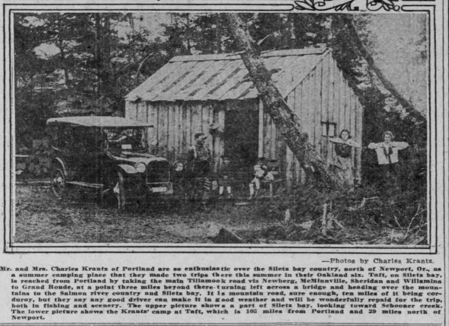Oregonian September 1920 Vacationers to the