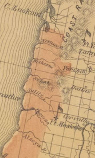 Oregon Native Place Names In The Us Coast And Geodetic Survey - Us-coast-and-geodetic-survey-maps
